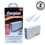 Sạc 5 cổng Energizer Station 5USB 8A/40W EU màu trắng – USA5DEUHWH5 (New)
