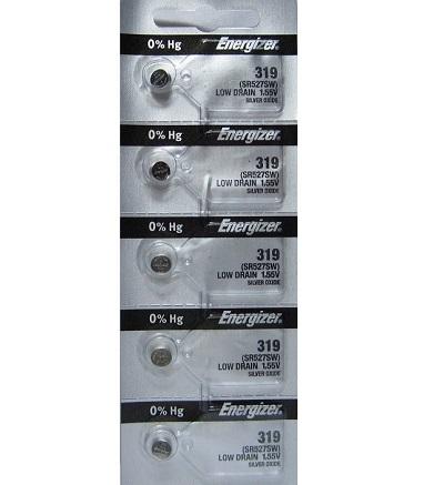 Energizer 319 – SR527SW Silver – 1.55V