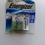 Pin 9V Energizer Lithium L522BP2
