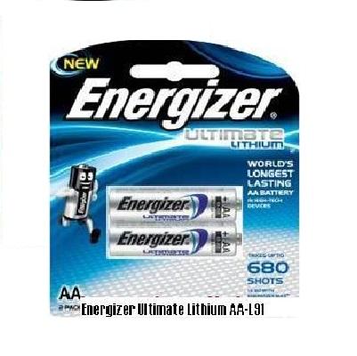 Pin AA Energizer Lithium L91 RP2 chính hãng